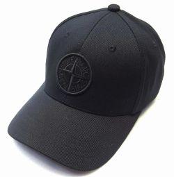 Бейсболка кепка STONE ISLAND flex (черный)