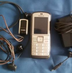 Nokia 6070 phone, spare parts, headset, cover