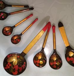 Khokhloma spoons and ladle