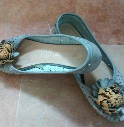 Balet pantofi p.36 culoare albastru, varianta de vara ..