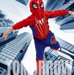 Spider-Man costum trei 100% bumbac nou + m