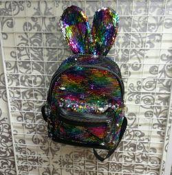 Iridescent Sequin Backpack