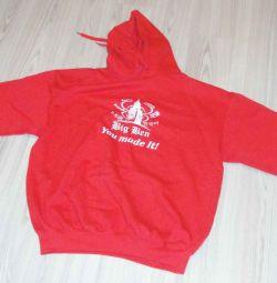 Толстовка красная с логотипом Big Ben. Размер XXL.