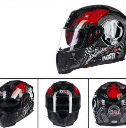 Helmet motorcycle helmet waterproof skeleton