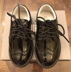 Παπούτσια (παπούτσια) απόλυτα δερμάτινο Gulliver