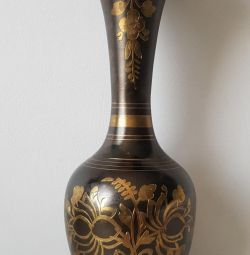 INDIAN BRASS VASE