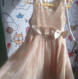 Платье, цвет золото