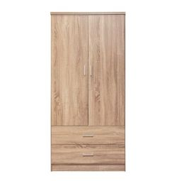WARDROBE 2 DOUBLE SHOWER WITH 2 HM338.02 SONAMA 80X4 DRAWERS