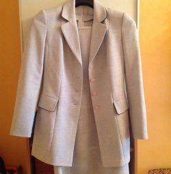 Suit (dress + jacket), r. 44