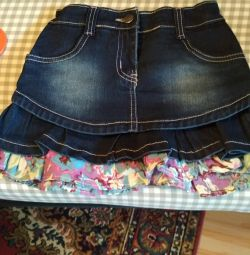 Denim skirt for height 128