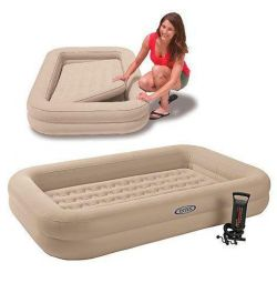 Children's bed with sides + manual pump, Intex