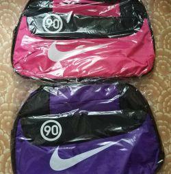 Сумка спортивна Nike рожевий колір