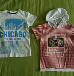 T-shirts για παιδιά, 2 τεμ (4-6 ετών)