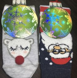 Новогодние носки Conte-kids 13-14р