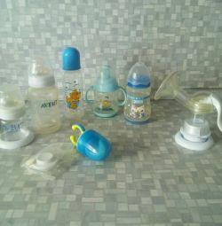 Αντλία μαστού, πότης, νιπέρ, μπουκάλια