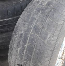 Rubber with disks on the Volga Niva