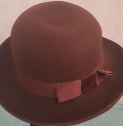 Hat felt women vintage 80s USSR