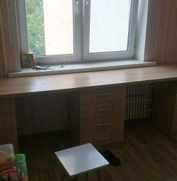 Desk with shelves