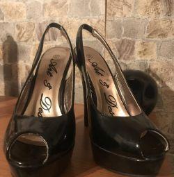 New Black Sandals 37