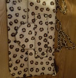 Leopard Cloth Pony Leather