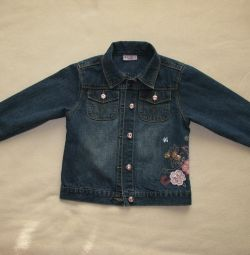 Jeans pentru fată în perioada 110-116