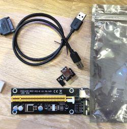 Райзер pci-e 1х-16x ver 006 + кабель 3.0 60 см
