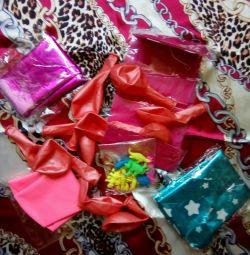 Шары воздушные-оформление праздника+подарок 10шт.