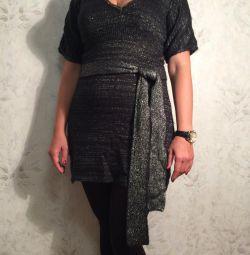 Elbise Tunik yün İtalya r. 42-44 Orijinal