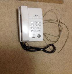 Телефон 2шт стационарный Panasonic и LG