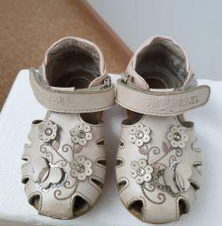 Sandalet deri iç taban 14cm