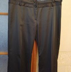 Pantaloni din satin clasic cu panglici