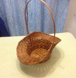Decorative basket, wickerwork