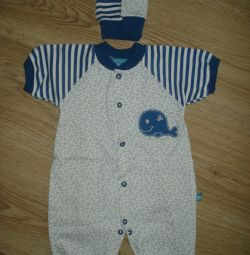 Sandbag overall + cap of cotton Size 62