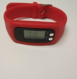 Red clock pedometers