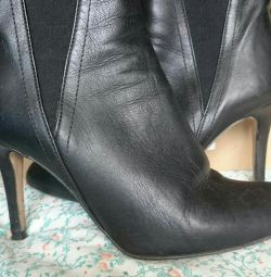 Ankle boots nat. Leather