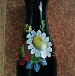 Vazochka dark heavy glass, from the USSR