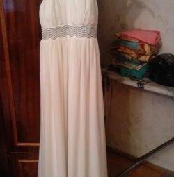 beautiful dress on the floor