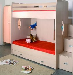 D1 bunk bed (Lindberg Oak)