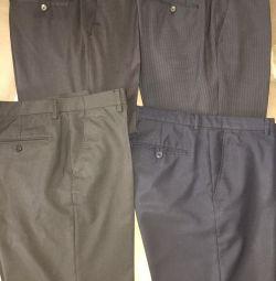 Classic pants, 4 pieces