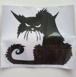 Наклейка «чорна кішка»