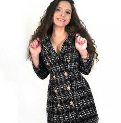 Платье пиджак из твида