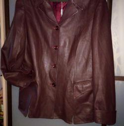 Women's leather jacket jacket, natural leather.