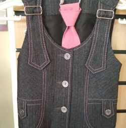 Vest and tie on the girl 34