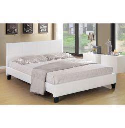 Κρεβάτι Fenia σε Ματ Λευκό PU 150x200