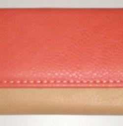 Purse beige-pink 19 * 10 * 2cm.