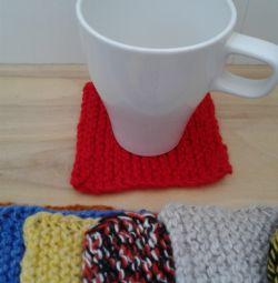 Coafuri din tricot pentru pahare, pahare