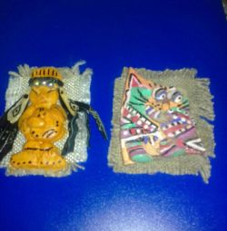 MAGNETS FROM MOUNTAIN ALTAI AND THE KAZAKH BOY.