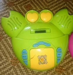 Children's toy crab
