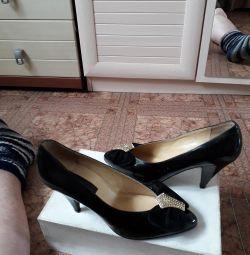 yeni patent deri ayakkabı