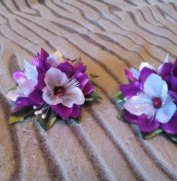 Barrettes for hair (pair)